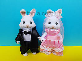 Ігровий набір Зайці у весільних костюмах флок