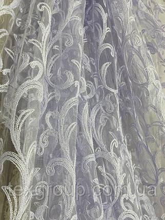 Красивый фатиновый тюль с крученой нитью №116077оптом, фото 2