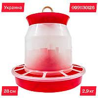 Бункерная кормушка на 2,9 кг (пр-во Украина) для бройлеров, утят, цыплят и индюшат, фото 1