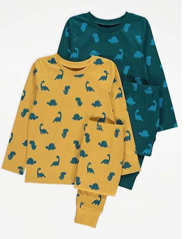 Пижама детская 110-116см 2 комплекта George  с динозаирамы