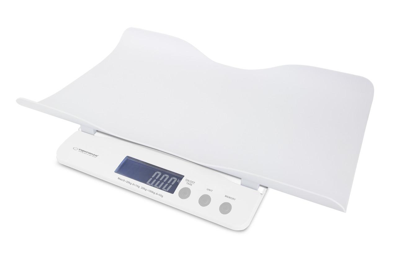 Детские электронные весы для новорожденных Esperanza EBS017 El Nino 2 в 1 White