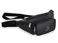 Чоловіча шкіряна сумочка на пояс Betlewski 30 х 13,5 х 7 (BSG-02) - чорна, фото 1