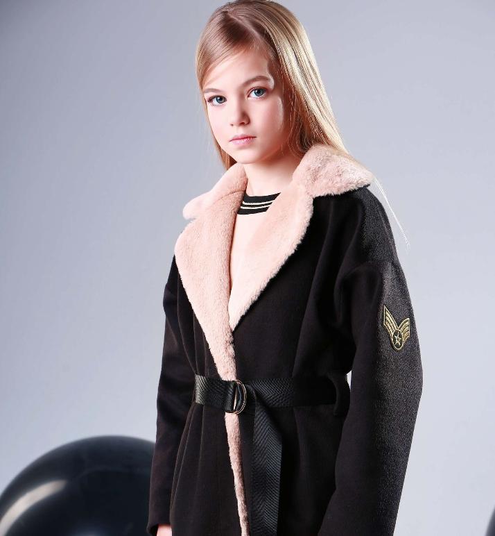 Пальто кашемир для девочки подростка ТМ МОНЕ р-р 158