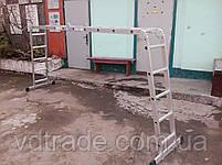 Лестница трансформер 4х5, алюминиевая, фото 5