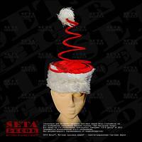 """Шапка """"Санта Клаус"""" новогодняя с пружинкой"""
