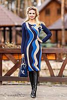 Женское трикотажное платье до колен | 50, 52, 54 р., фото 1