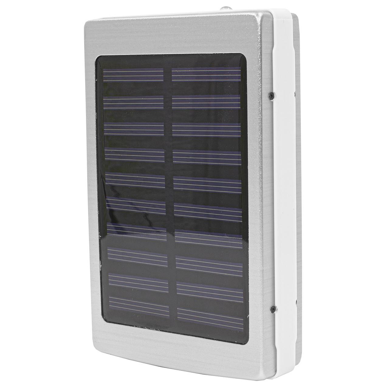 Внешний аккумулятор Power bank Solar PB-6 с солнечной панелью 6000 мАч стробоскоп Silver