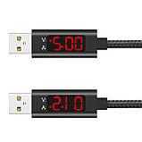 Кабель синхронизации Topk Display для iPhone с дисплеем USB - Lightning 2.4A 1 м Black (3867-10864), фото 3