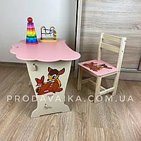 Вау!Детский стол!Стол-парта тучка и стульчик классический.Подарок!Подойдет для учебы, рисования, игры