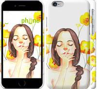 "Чехол на iPhone 6 Девушка акварелью v4 ""3031c-45"""