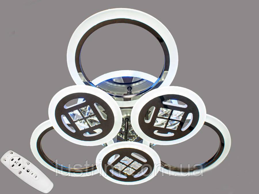 Светодиодная LED люстра с диммером и подсветкой 115W