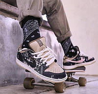 Мужские кроссовки Найк SB Dunk Low Travis Scott