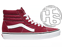 Женские зимние кеды Vans Old Skool SK8 Hi Winter Edition Bordo (Ванс Олд Скул Скейт Хай Бордо) VA38GEU64