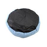 Круглый лежак для котов собак Taotaopets 511101-01 L Blue (5928-17736), фото 2
