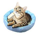 Круглый лежак для котов собак Taotaopets 511101-01 L Blue (5928-17736), фото 3