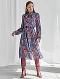 Шифоновое платье-миди с длинным рукавом, фото 3