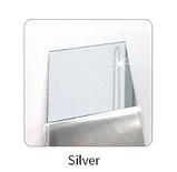 Зеркало акриловое серебро квадрат 14 см х 14 см, 1 штука крепление скотч, фото 2
