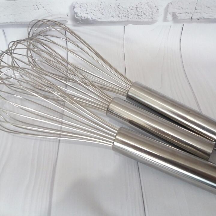 Венчик профессиональный металлический 25 см
