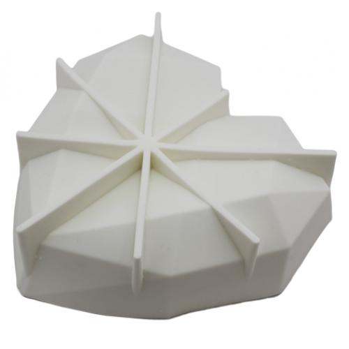 Силиконовая форма для евродесертов Empire Сердце оригами