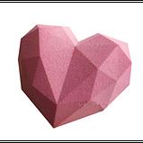 Силиконовая форма для евродесертов Empire Сердце оригами, фото 2