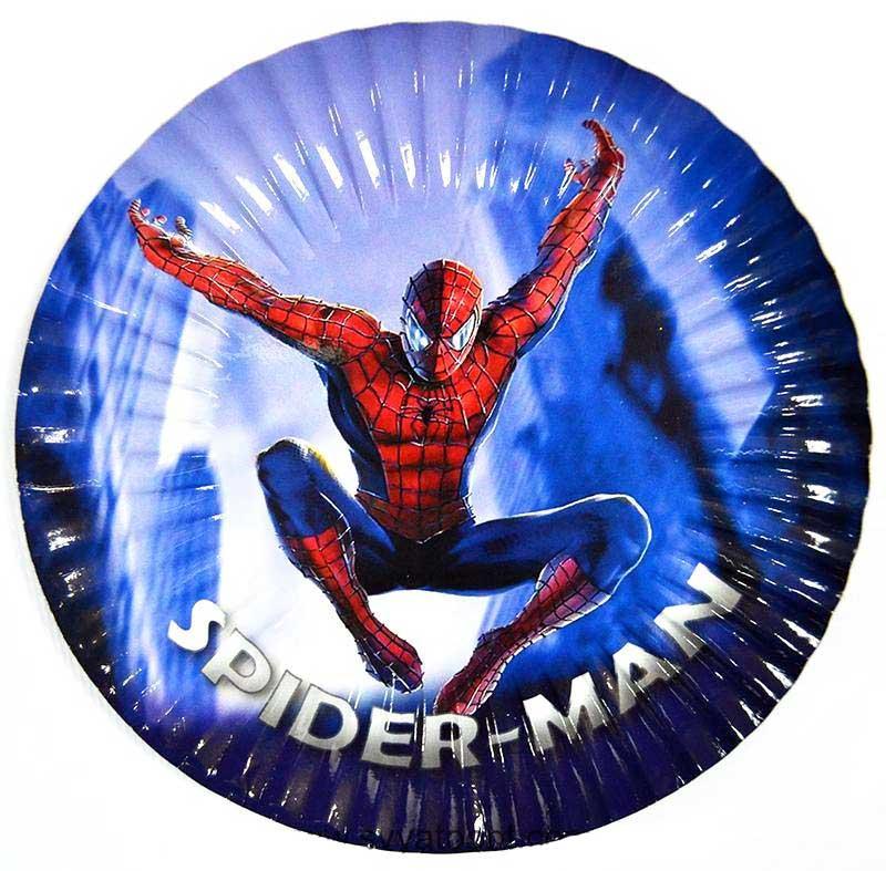 "Тарелки ""Человек-паук"" диаметр 18см."