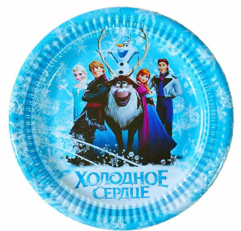 """Тарелки """"Холодное сердце""""  диаметр 18 см"""