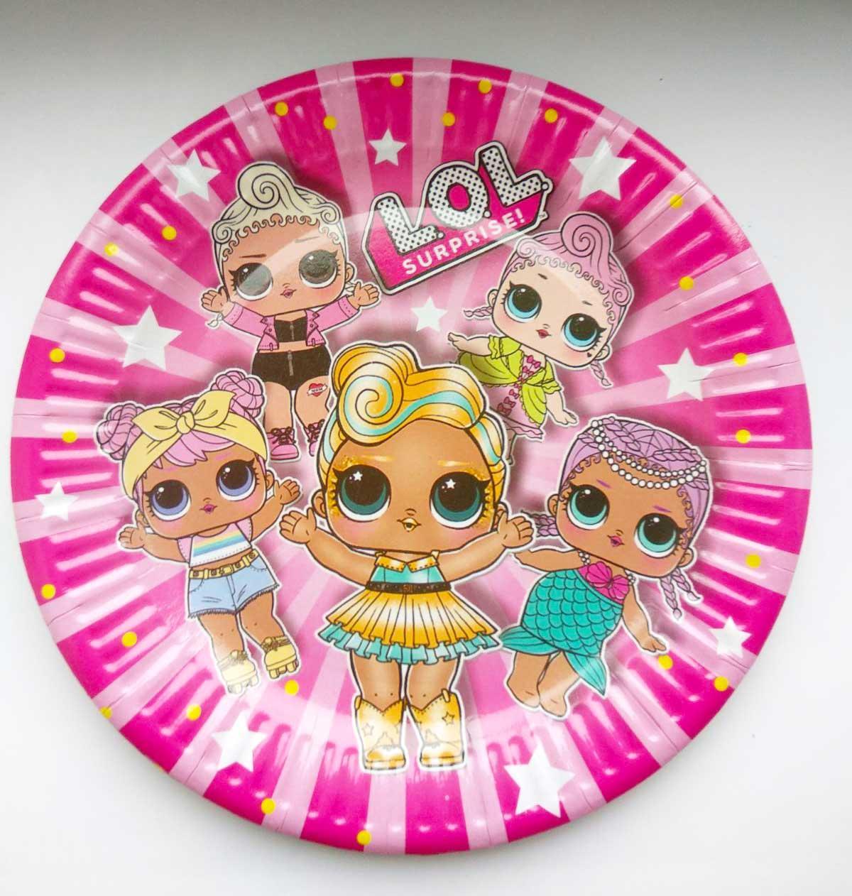 """Тарелки """"Куклы L.O.L""""  диаметр 18 см."""