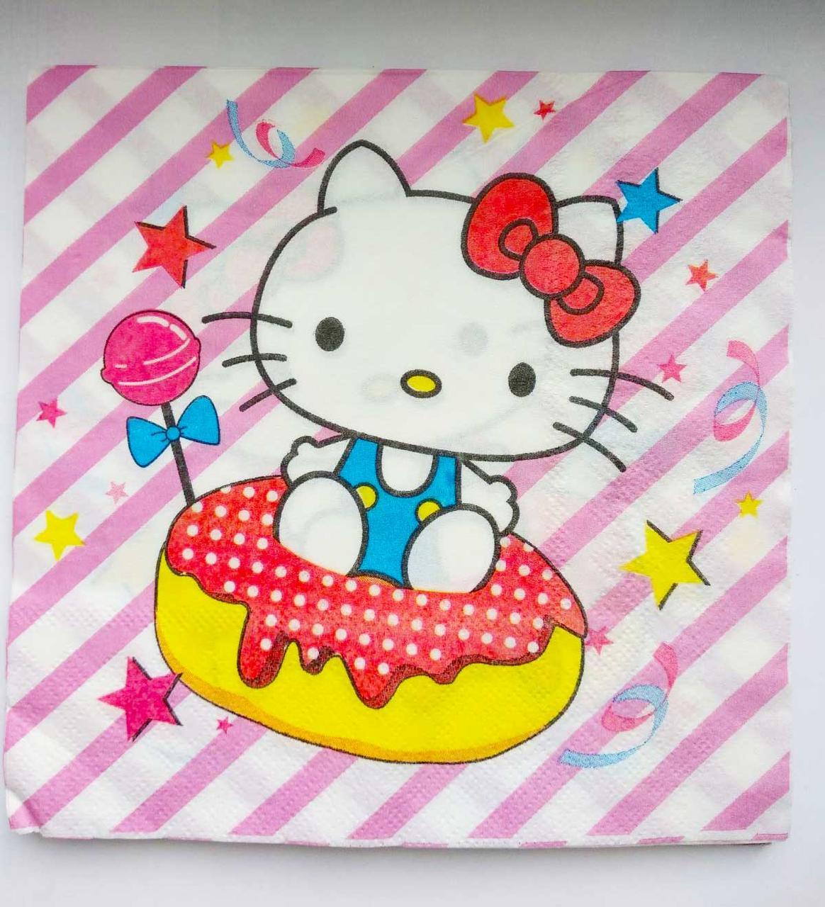 "Салфетки ""Hello Kitty""."