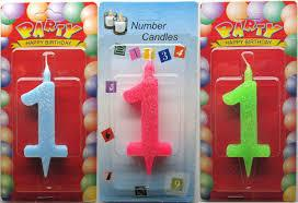 """Свечи для торта цветные  Цифра """"1"""""""