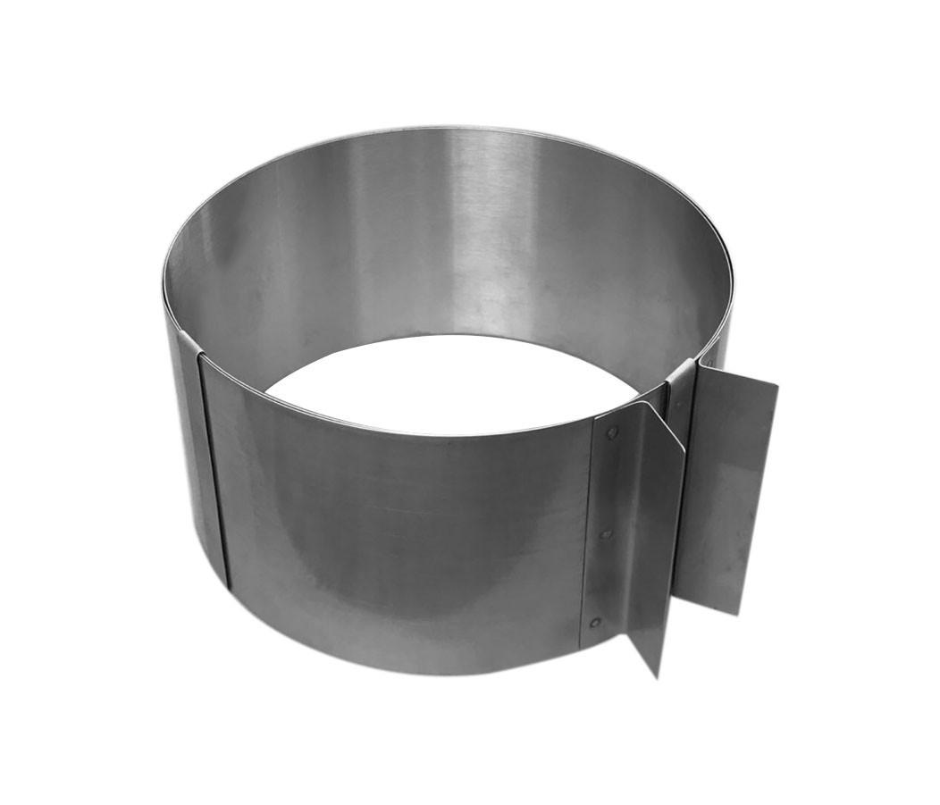 Кольцо раздвижное для выпечки нержавейка h-15 см