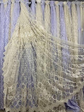 Шикарный фатиновый тюль для зала спальни №116223 на отрез, фото 2