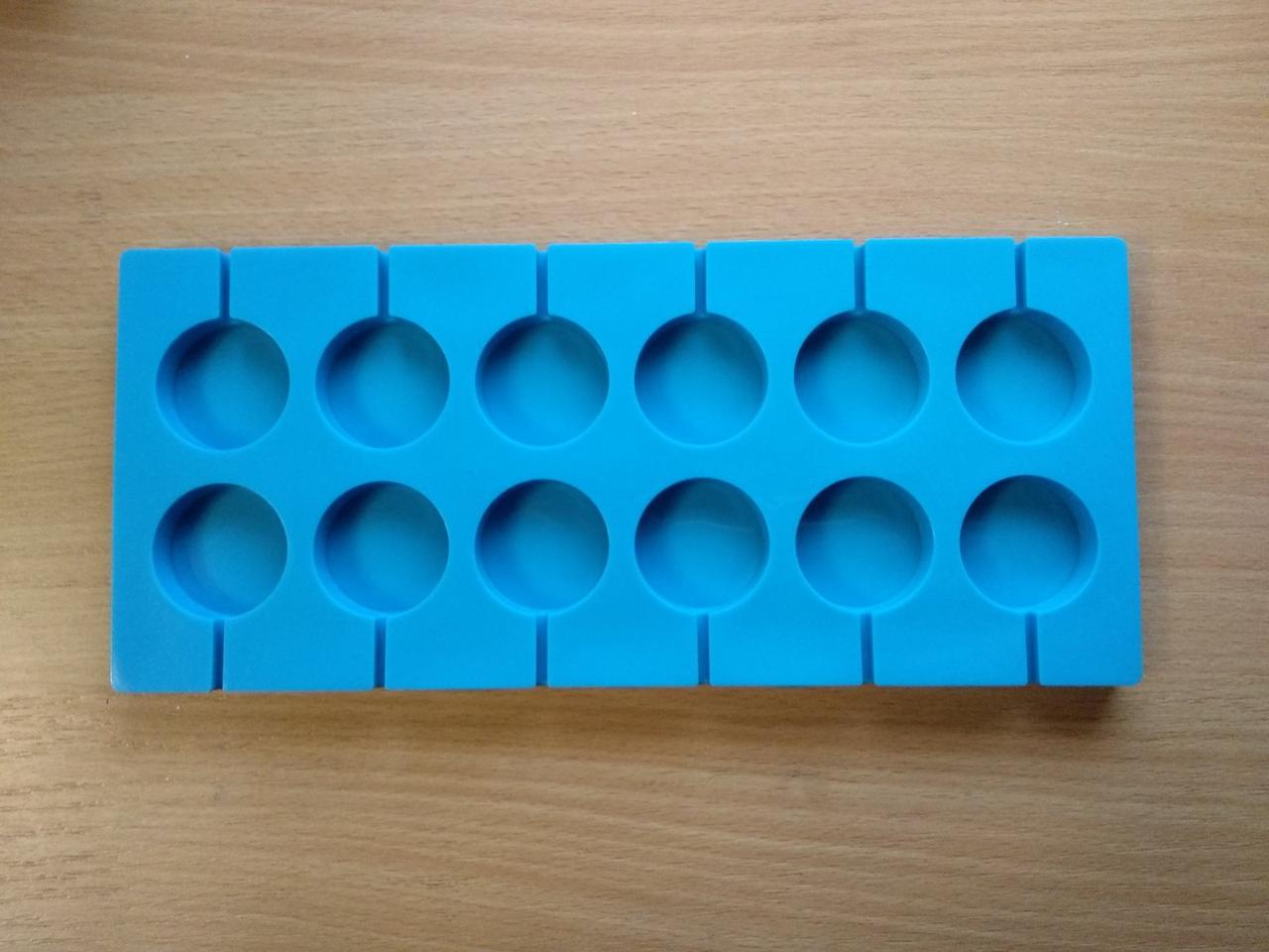 Форма силиконовая для конфет Empire для леденцов Lolli Pop из 12 шт 3,5 см
