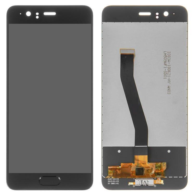 Дисплей (экран) для Huawei P10 VTR-L29 с сенсором (тачскрином) черный