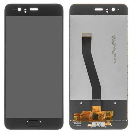 Дисплей (экран) для Huawei P10 VTR-L29 с сенсором (тачскрином) черный, фото 2