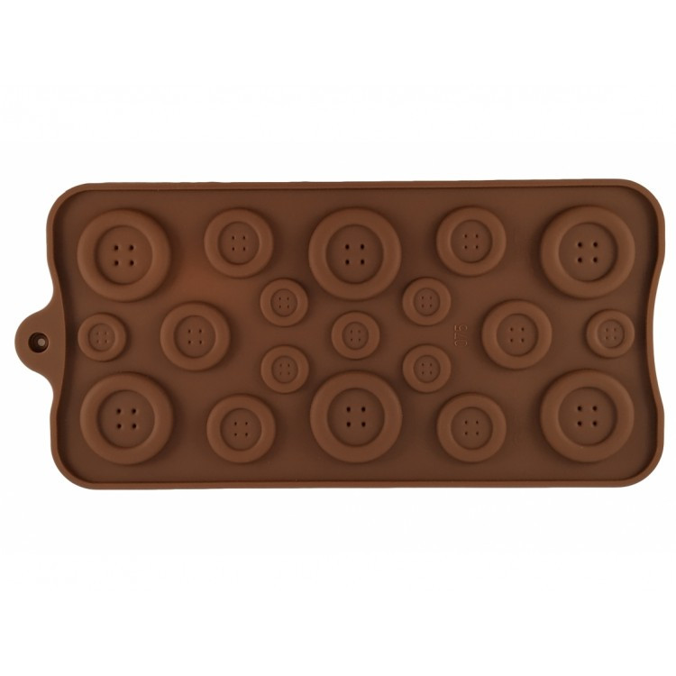 Форма силиконовая для конфет, шоколада и льда Empire Пуговицы 200205