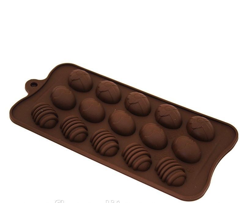 Силиконовая форма для шоколада и карамели Empire Пасхальные яйца 200206
