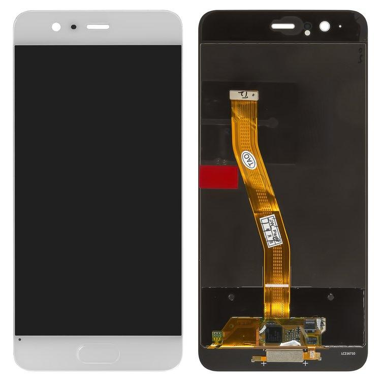 Дисплей (экран) для Huawei P10 VTR-L29 с сенсором (тачскрином) белый Оригинал