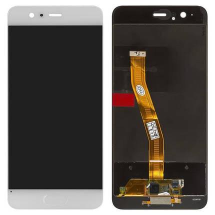 Дисплей (экран) для Huawei P10 VTR-L29 с сенсором (тачскрином) белый Оригинал, фото 2