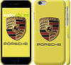 "Чехол на iPhone 6 Porsche. Logo v2 ""3136c-45"""