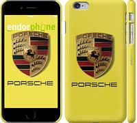 """Чехол на iPhone 6 Plus Porsche. Logo v2 """"3136c-48"""""""