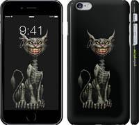 """Чехол на iPhone 6 Plus Алиса. Чеширский кот на чёрном фоне """"536c-48"""""""