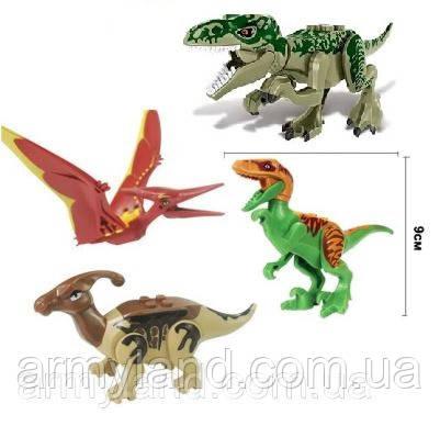 Конструктор Набор №1 Динозавров 4шт , аналог Лего