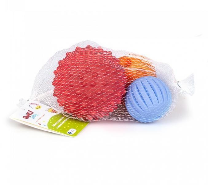 Развивающая игрушка текстурные сенсорные мячики Тактилики 3 шт. Fancy Baby TIH3 - вариант 1