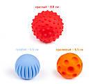 Развивающая игрушка текстурные сенсорные мячики Тактилики 3 шт. Fancy Baby TIH3 - вариант 1, фото 2