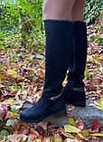 Женские зимние сапоги Respect Португалия натуральная замша шерсть 41, фото 8