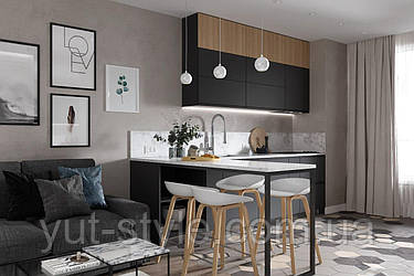 Ідеї вашого будинку Функціональний дизайн маленької кухні-вітальні: кращі ідеї для інтер'єру
