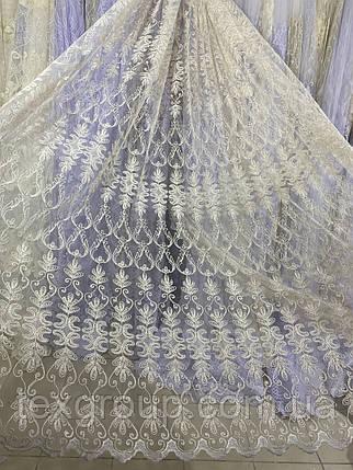 Шикарный фатиновый тюль для зала спальни №111295 на отрез, фото 2