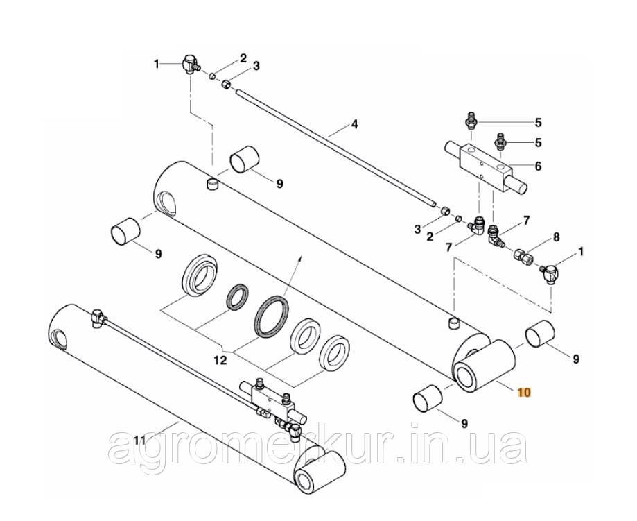 Гідроциліндр ac355960 Kverneland 120-50-780/1030 MSC (AC357063)