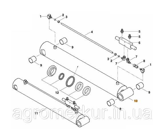 Гідроциліндр ac355960 Kverneland 120-50-780/1030 MSC (AC357063), фото 2