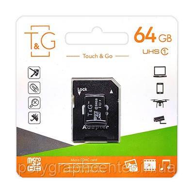 Карта памяти MicroSDXC 64GB UHS-I U3 Class 10 T&G + SD-adapter